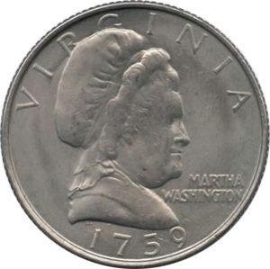 martha washington coin