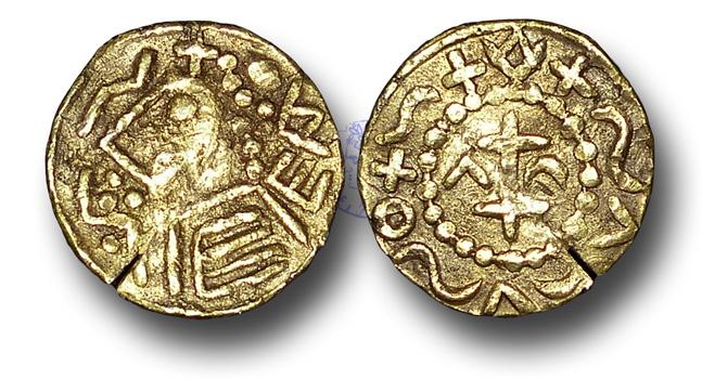 Merovingian Tremissis Gold Coin