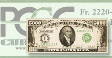 1928 $5000 bill