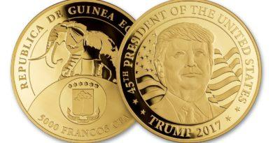 Donald Trump gold coin