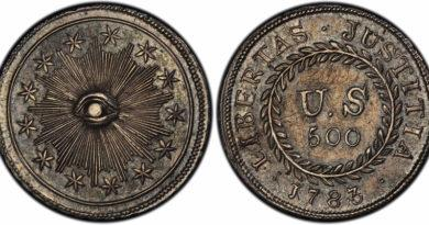 first us coin ever made minted