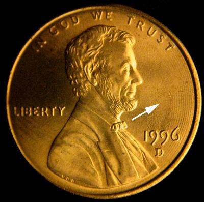 lathe rings on lincoln cent