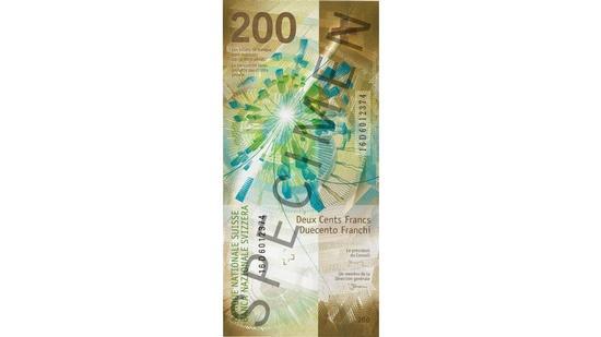 new swiss bank note 200 B