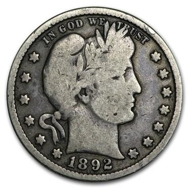 barber quarter values