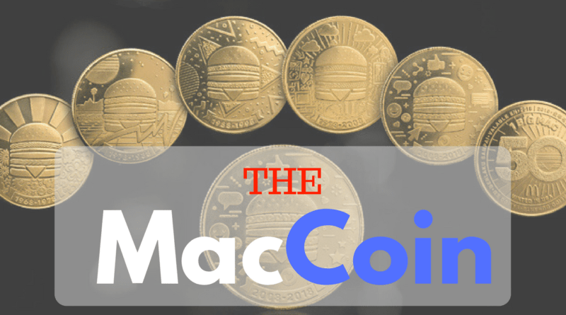 maccoin mac coin mcdonalds free big mac gold coin