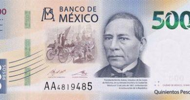 new bank note mexico