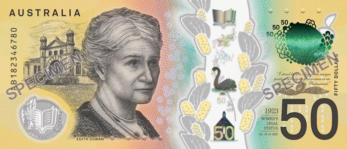 new fifty dollar australia bank note