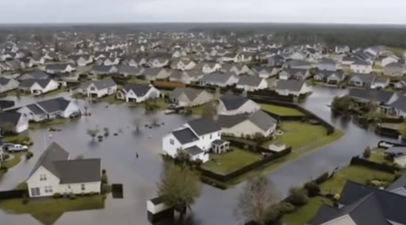 hurricane florence drone footage flooding