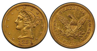 1854-S-Quarter-Eagle-PCGS-XF45-768x406