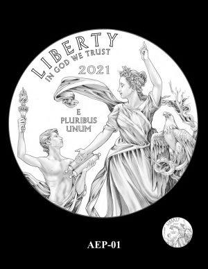 New Proof Platinum American Eagle Coin Design Concepts Released 3