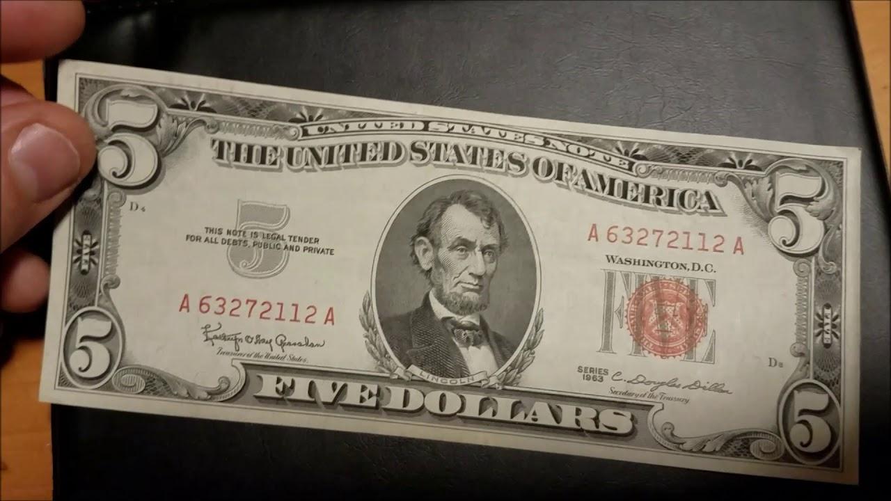 5 Bill Values Paper Money Price Guide
