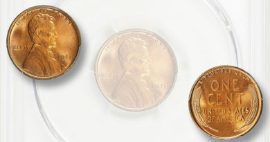 MS-67+ red 1911 Lincoln cent, one of two finest known, brings $15,243.75
