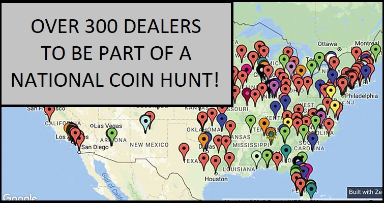 NATIONAL COIN HUNT DURING ANA COIN WEEK 2019 FREE COINS IN CIRCULATION GIVEN AWAY VARIETY ERRORS