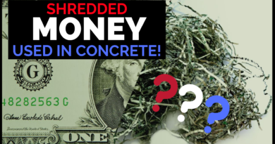 shredded money being used in concrete federal reserve notes bep