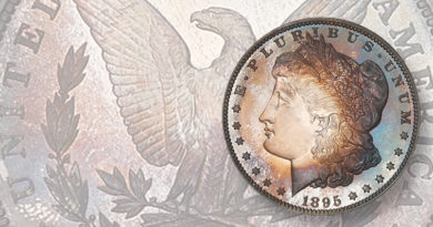Proof 1895 Morgan dollar off market since 1960 in auction