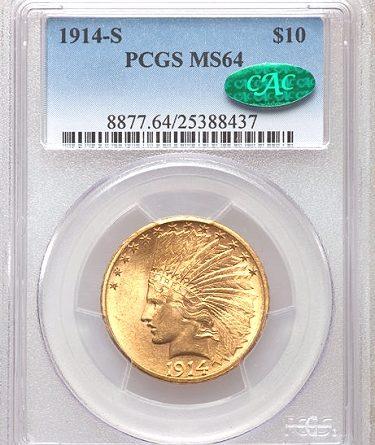 1914 s gold coin $10 gold coin