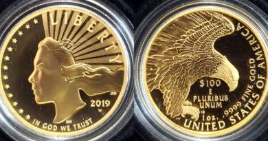 american liberty 1 oz gold coin error coin