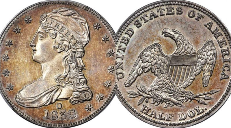 Rare 1838 half dollar coin sold for $504,000