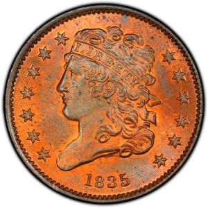 classic head half cent