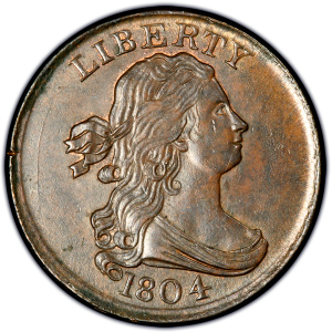 draped bust half cent values