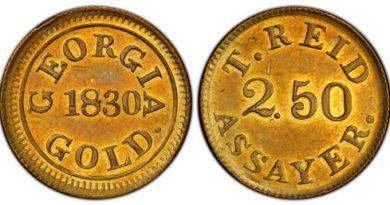Georgia-Struck 1830 Gold Coin Sells For Record $480,000 in Atlanta