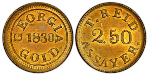Georgia-Struck 1830 Gold Coin Sells For Record $480,000 in Atlanta