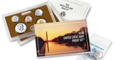 U.S. Mint 2020 Proof Set Purchase Includes Premium 'W' Nickel