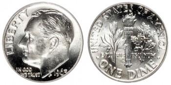 Roosevelt dime silver coin melt value