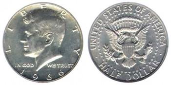 1966-Kennedy-Half-Dollar silver values error coins price guide