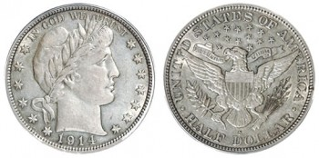 barber quarters melt value