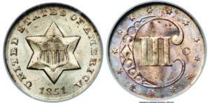 1851-O 3-Cent Piece
