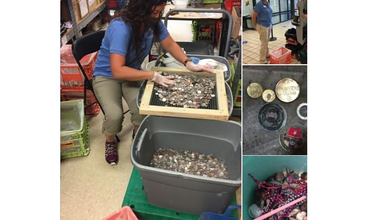 aquarium coins finding coins Aquarium Pulls Coins