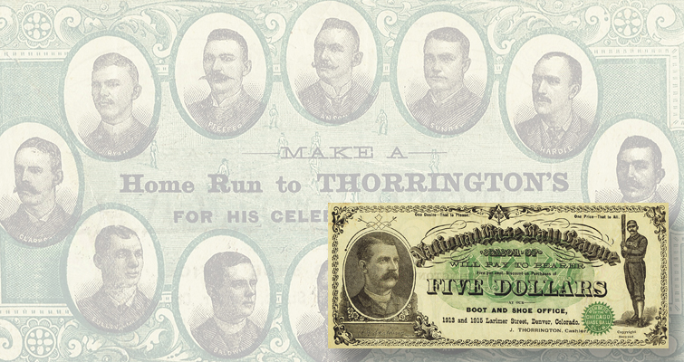 rare banknote 19th century art note baseball hall of fame bill chicago white stockings cubs